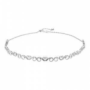 Pandora, Decorative, Kette Heart Swirls Choker, 397129CZ-38