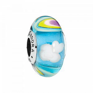 Pandora, Glass & Crystal, Charm-Anhänger Iridescent Rainbow Glass, 797013