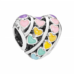 Pandora, Love, Charm-Anhänger Multi-colour Hearts, 797019ENMX