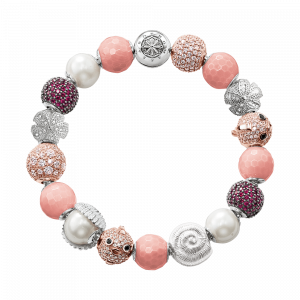 Thomas Sabo Armband mit Beads Karma Beads Sterling-Silber rosa rotgold silber weiß